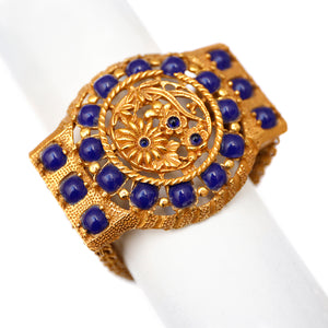 Lucien Piccard Blue and Gold Bracelet