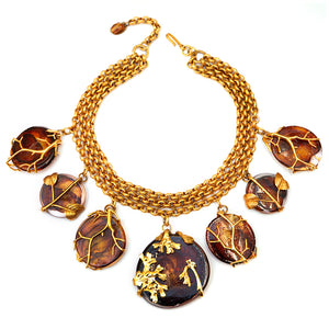 Philippe Ferrandis Amber Glass Collar