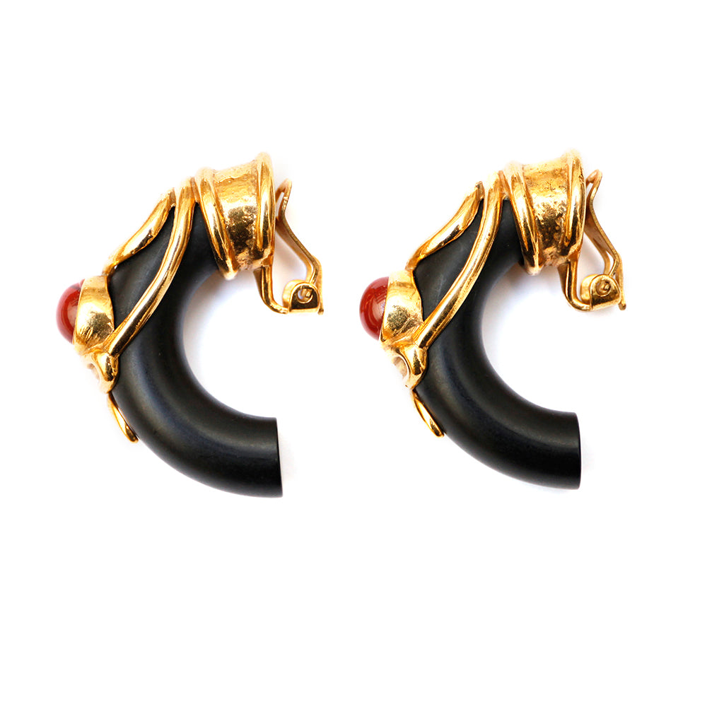 Isabel Canovas Wood Earrings