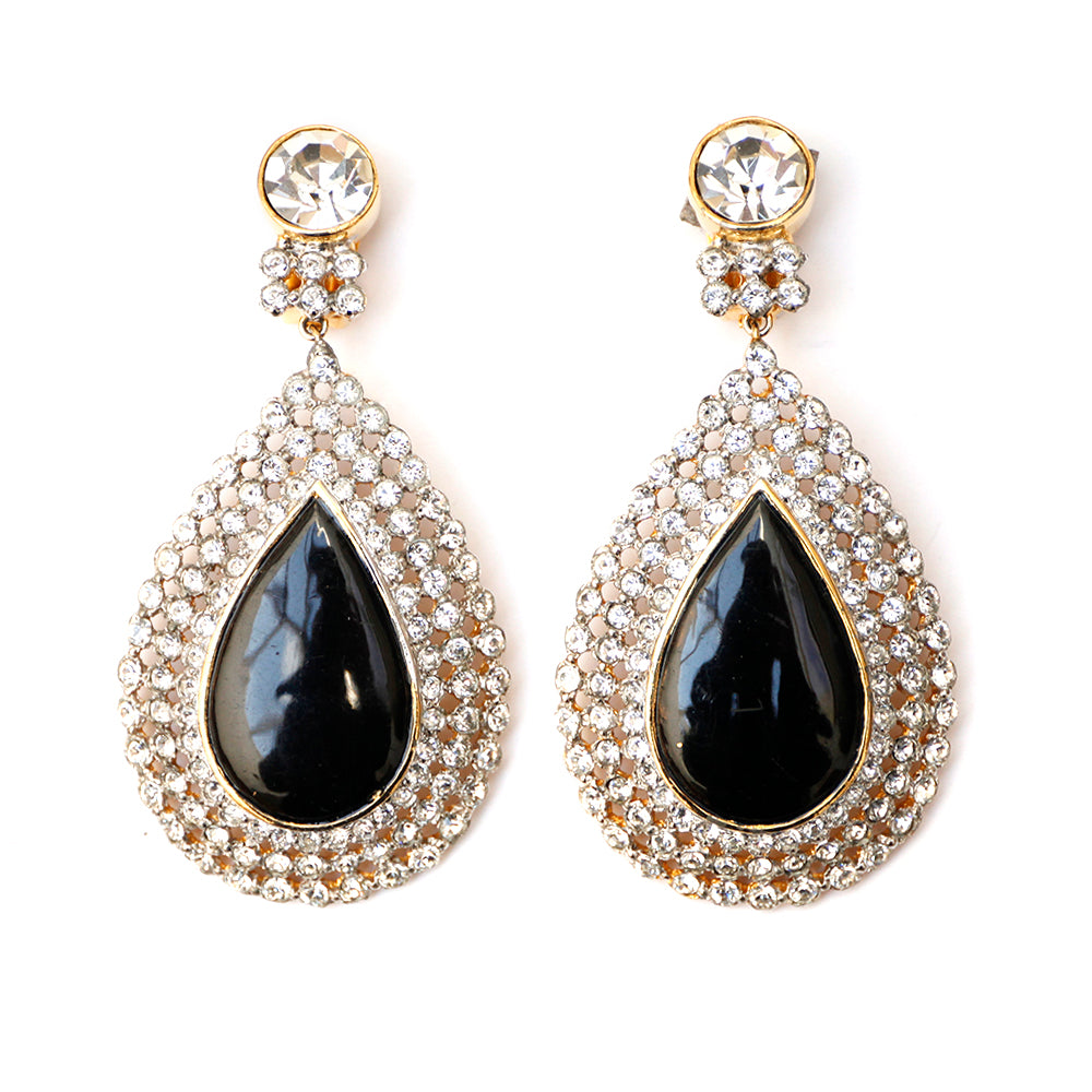 Valentino Diamante Teardrop Earrings