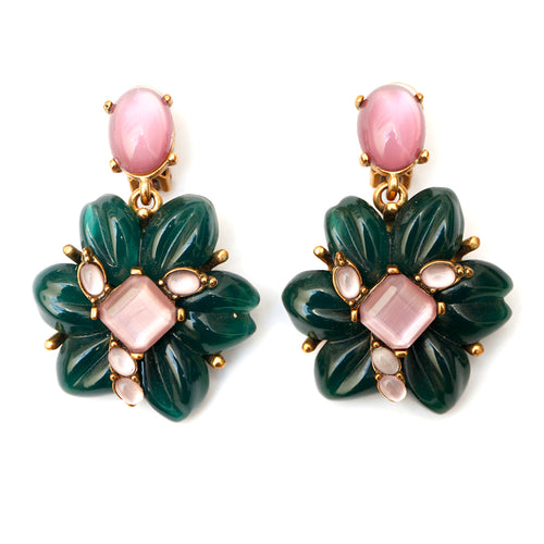 Oscar de la Renta Floral Earrings