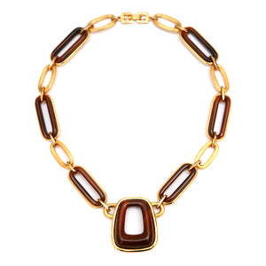Givenchy Oval Amber Necklace