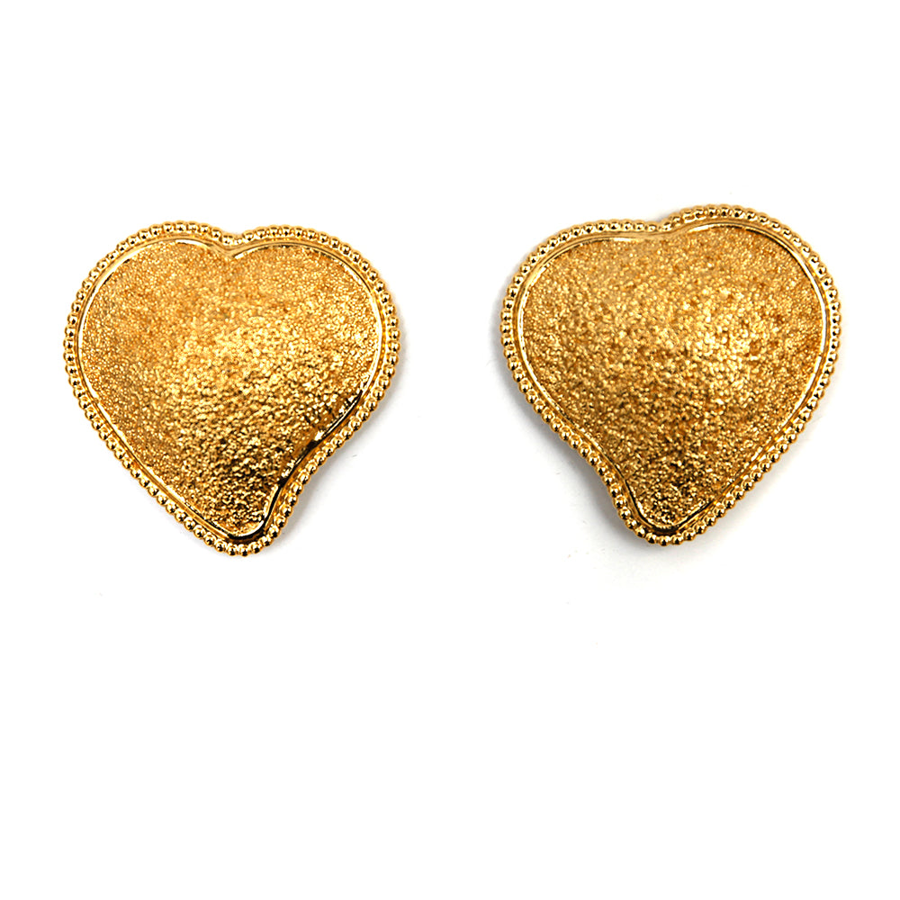 YSL Gold Heart Earrings