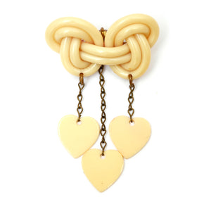Celluloid Heart Brooch