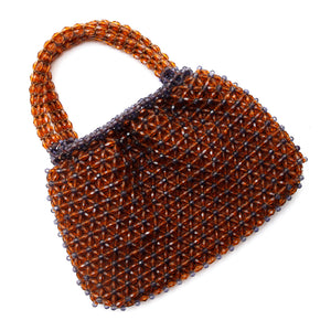 1960s Brown Beaded Purse