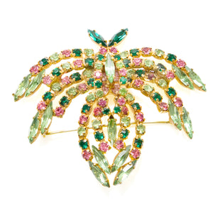 1950 Green and Pink Bug Brooch