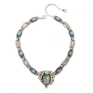 Jomaz Diamante and Blue Moon Glass Necklace