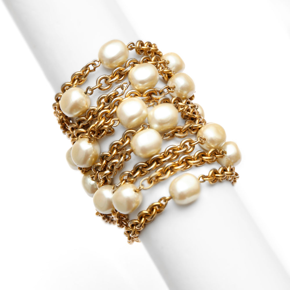 1980 Carolee Gold and Pearl Bracelet