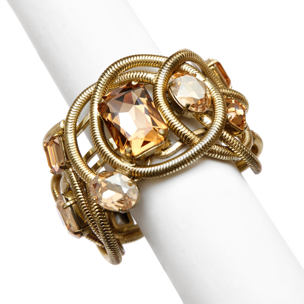 Ridrigo Otazu Snake Chain and Amber Cuff