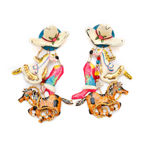 Lunch at the Ritz Western Charm Earrings
