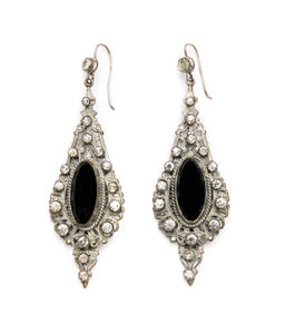 1920 Silver Filigree Earrings