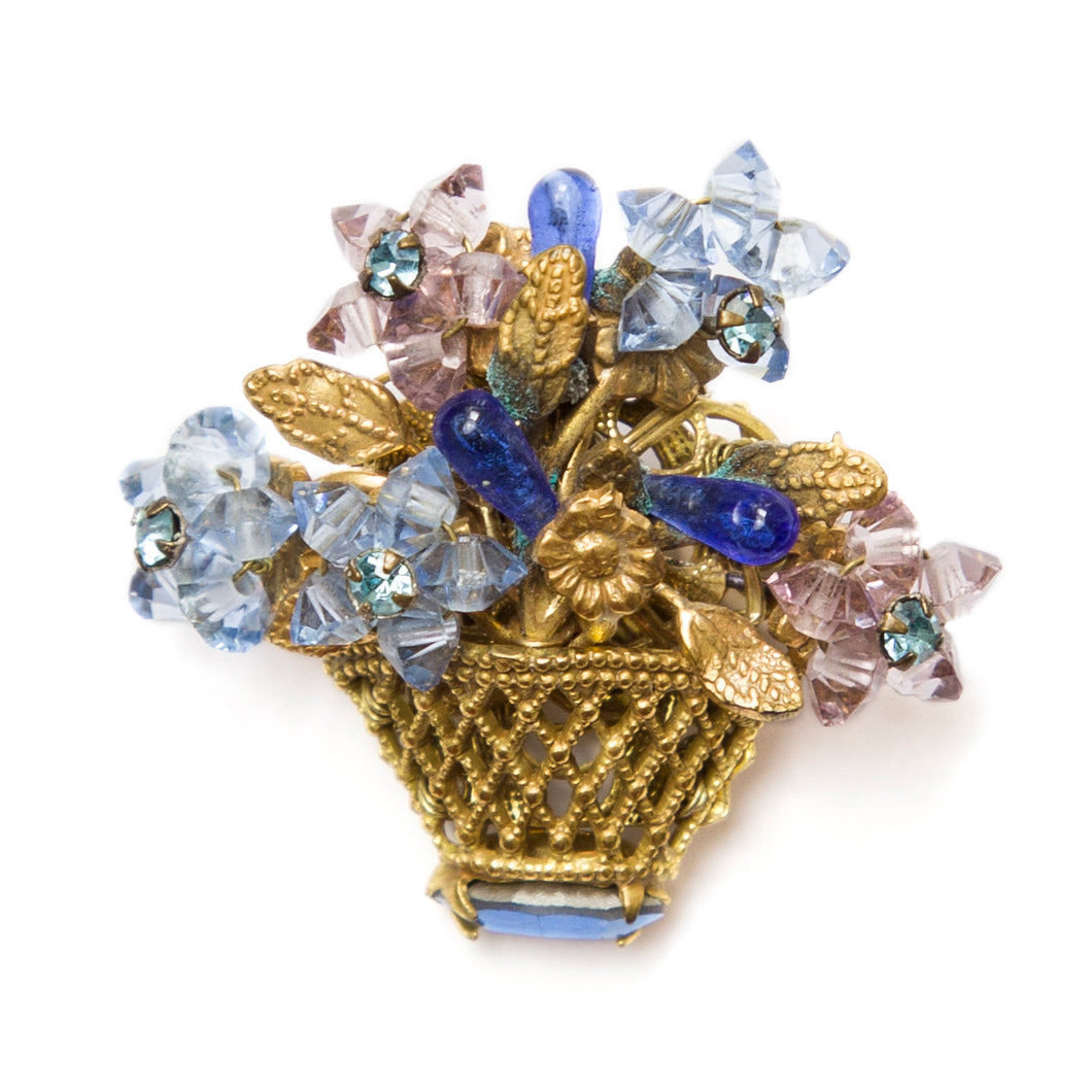 Eugene Flower Basket Brooch