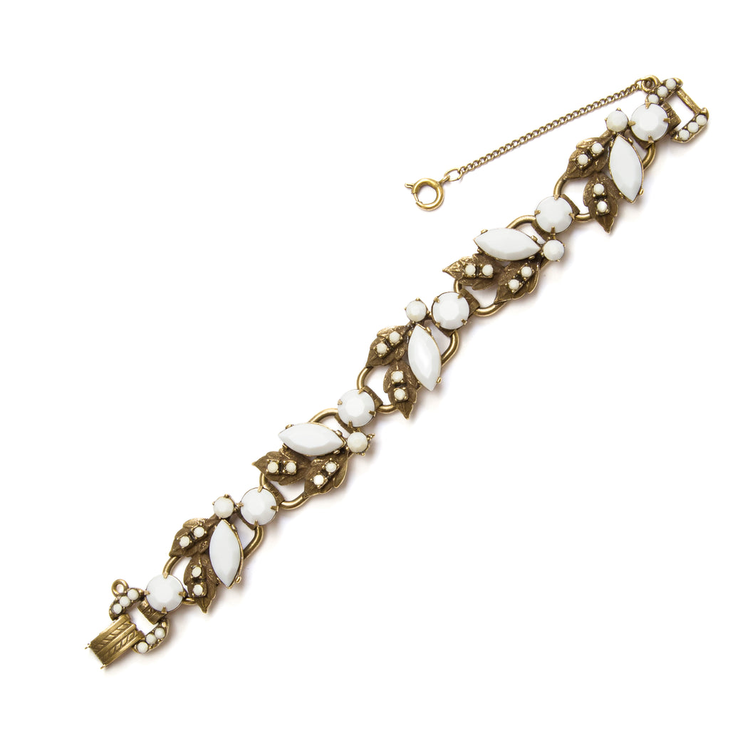 Juliana White and Gold Link Bracelet