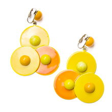 Load image into Gallery viewer, 1980 Yellow and Orange Earrings