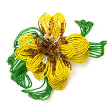 Load image into Gallery viewer, 1950 Large Beaded Flower Brooch