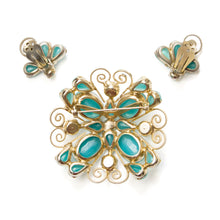 Load image into Gallery viewer, Juliana Gold Swirl Turquoise Set