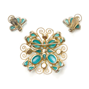 Juliana Gold Swirl Turquoise Set