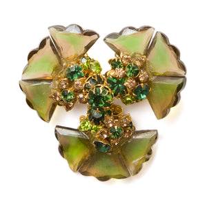DeMario Green and Amber Brooch