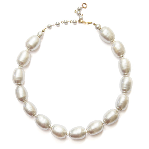 1970s Laguna Silver Pearl Necklace
