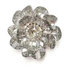 Load image into Gallery viewer, Vendome Silver Flower Brooch