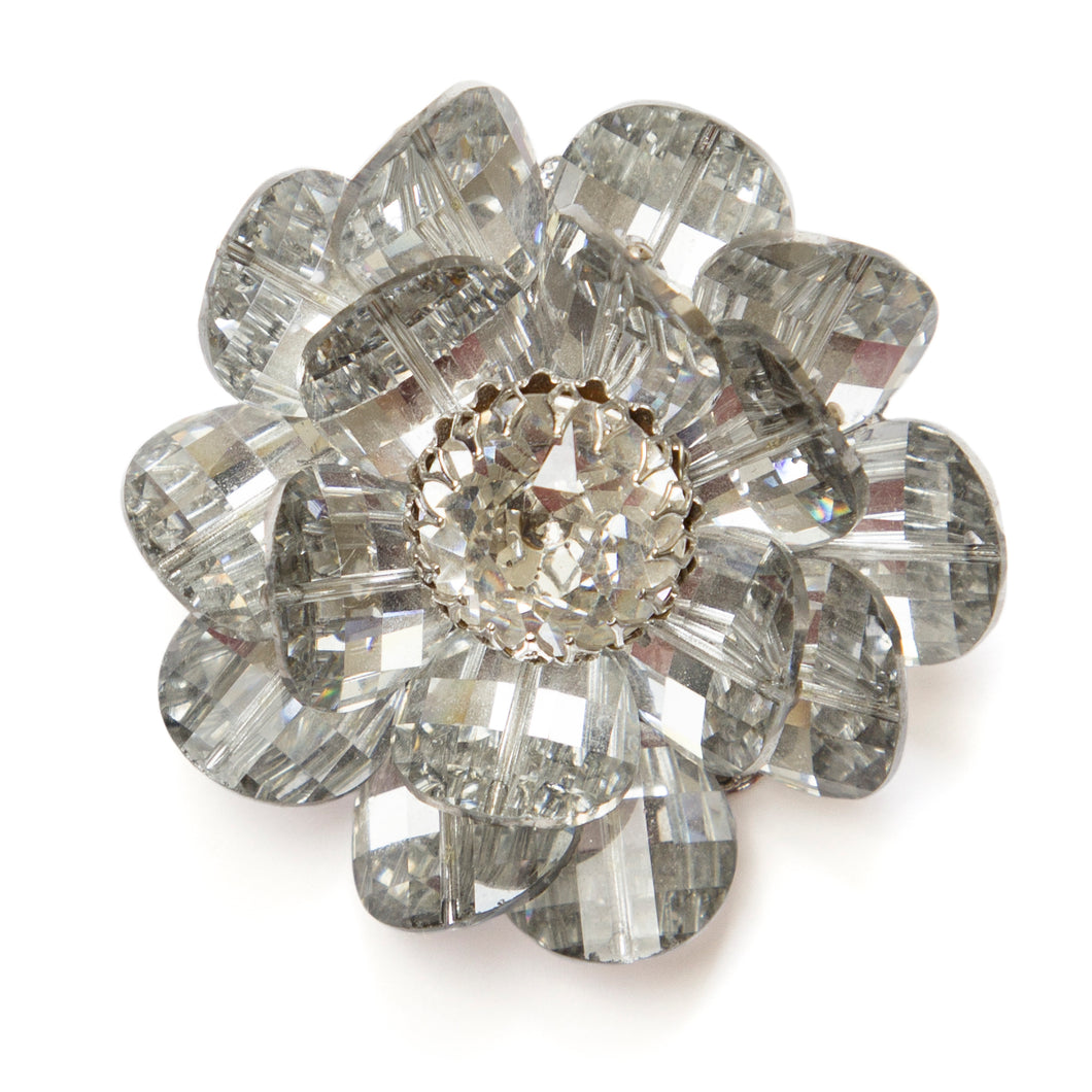 Vendome Silver Flower Brooch