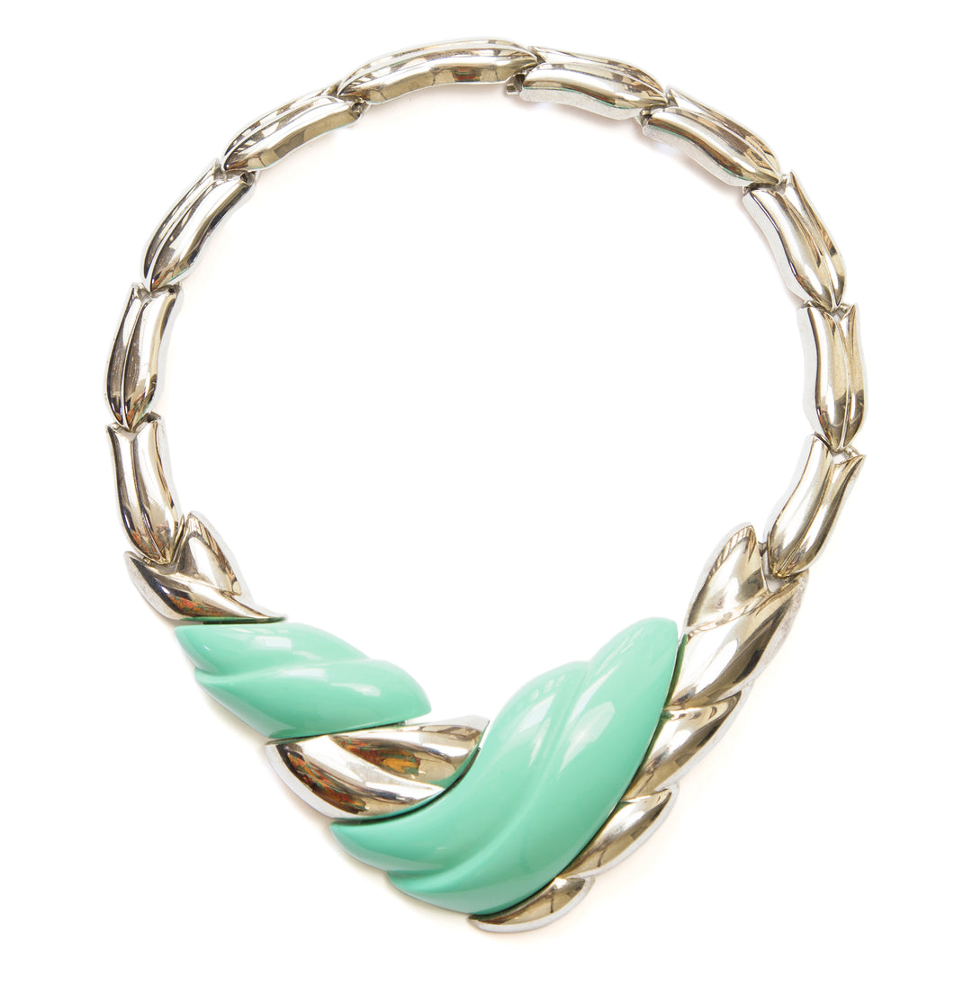 Alexis Kirk Silver and Cyan Necklace