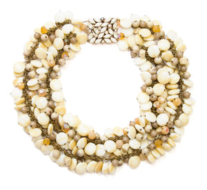 1970 Beige Shell Necklace