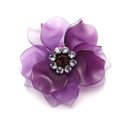Purple Acrylic Flower Pin