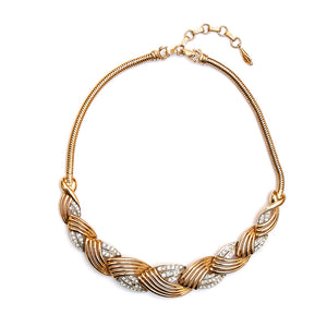 1950s Boucher Gold Woven Necklace