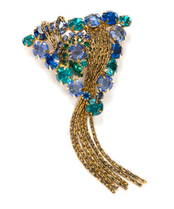 1950 Blue Tassel Brooch