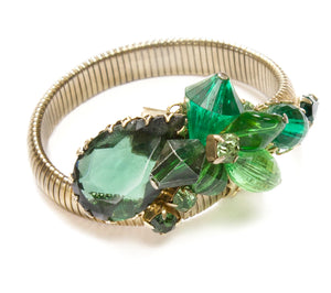 1960 Green Stretch Bracelet