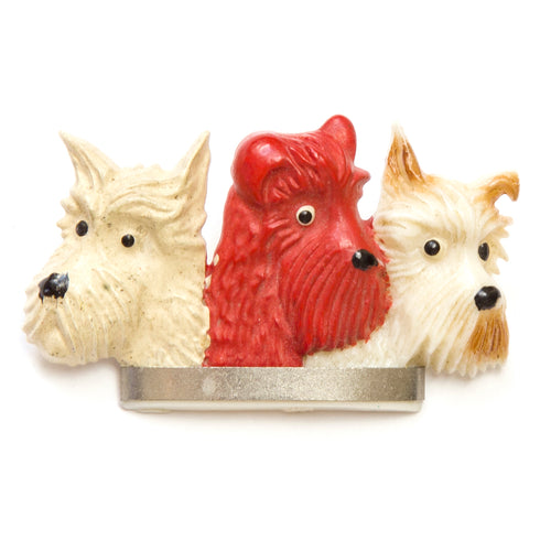 Celluloid Scottie Dog Brooch