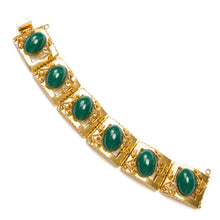 Load image into Gallery viewer, Vendome Emerald Cabochon Bracelet