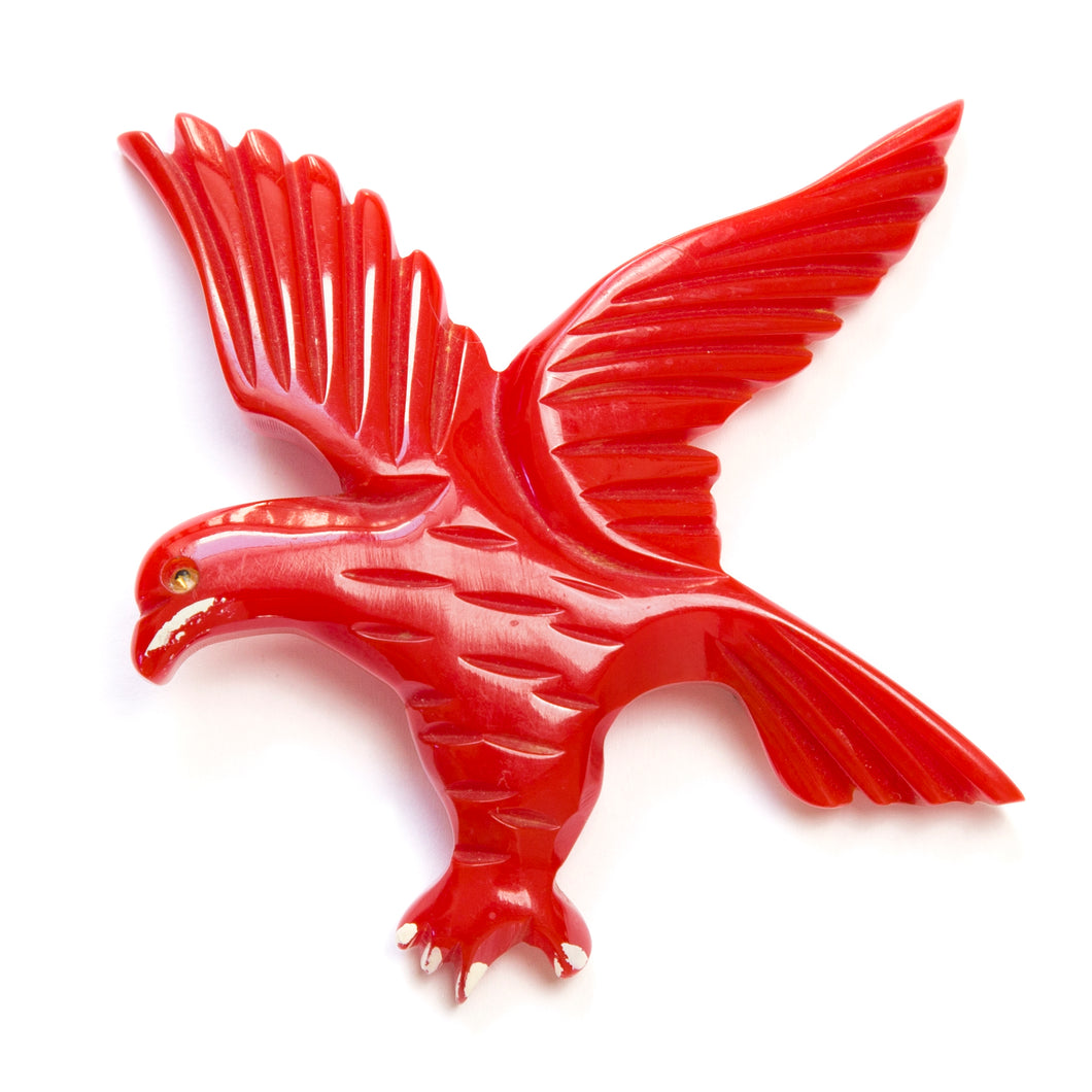 1930 Cherry Red Bakelite Eagle
