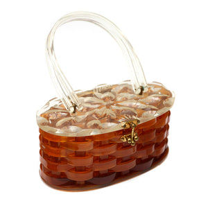1950 Brown Lucite Purse