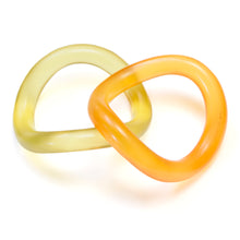 Load image into Gallery viewer, 1980's Orange and Yellow Frosted Bangle Set