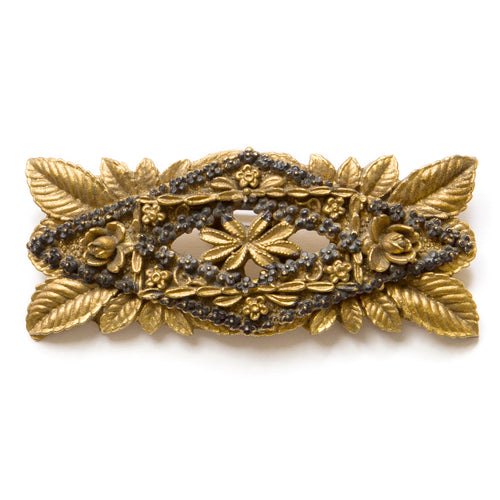 1940's Gold Celluloid Bar Brooch