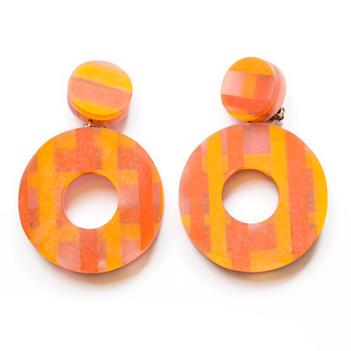 1960's Dangly Donut Earrings