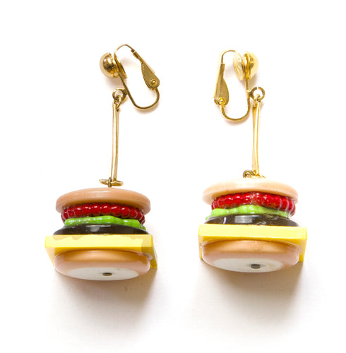 1980's Hamburger Earrings