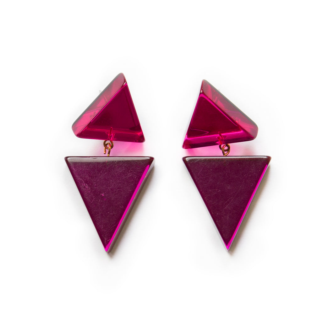 1960's Triangle Earrings