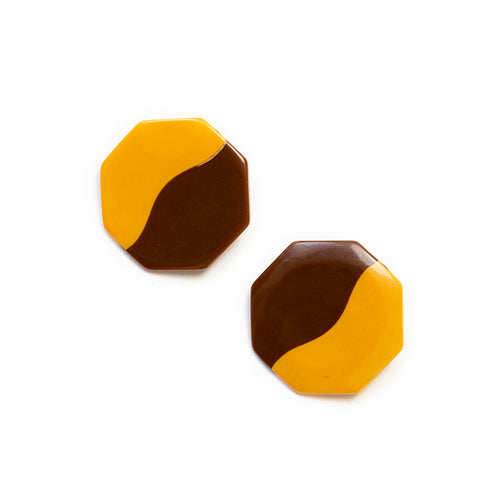 Two-tone Bakelite Earrings