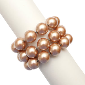 Chanel Three Strand Pink Pearl Bracelet