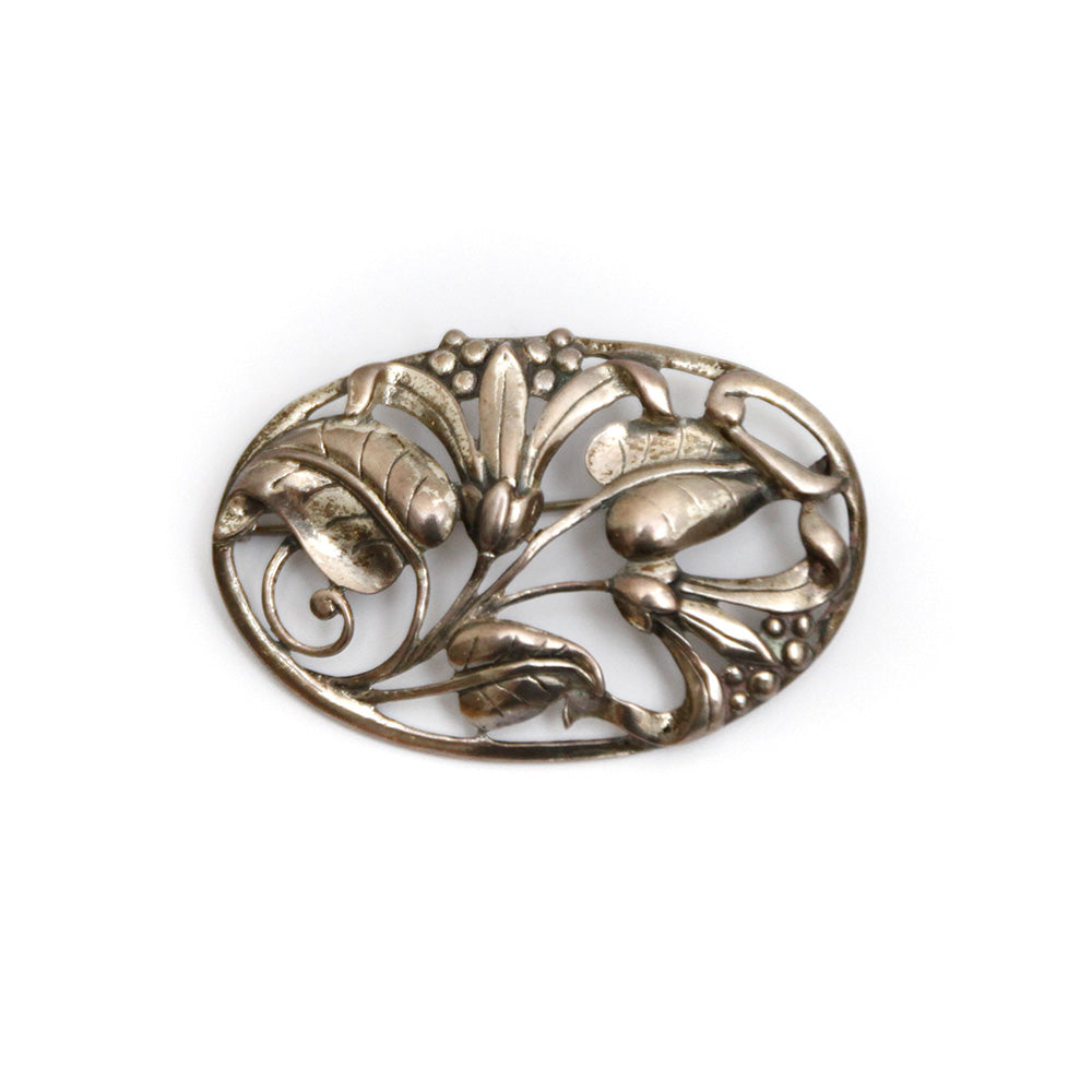 Danecraft Sterling Silver Flower Brooch