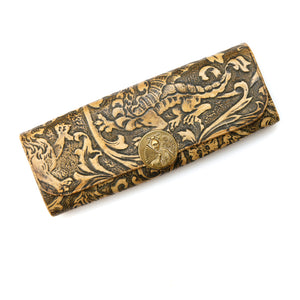 Leather Carved Change Wallet