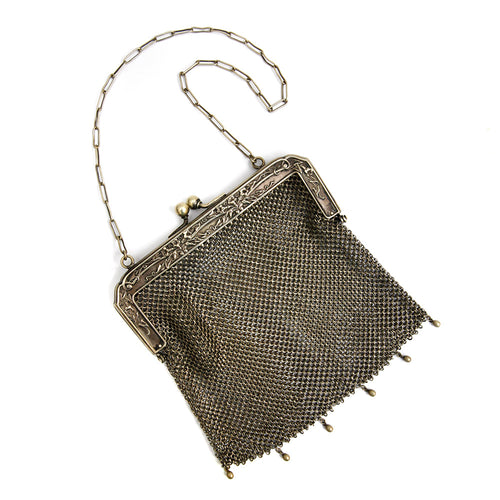 Sterling Silver Chain Handbag