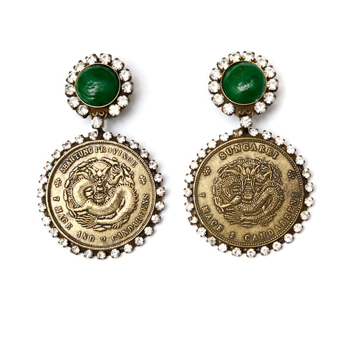 KJL Circular Drop Earrings