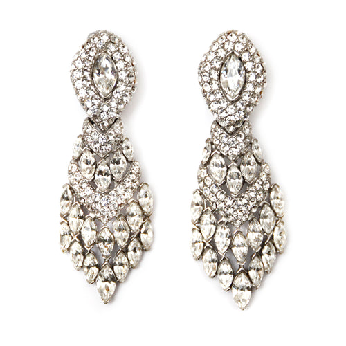 Ciner Diamante Drop Earrings