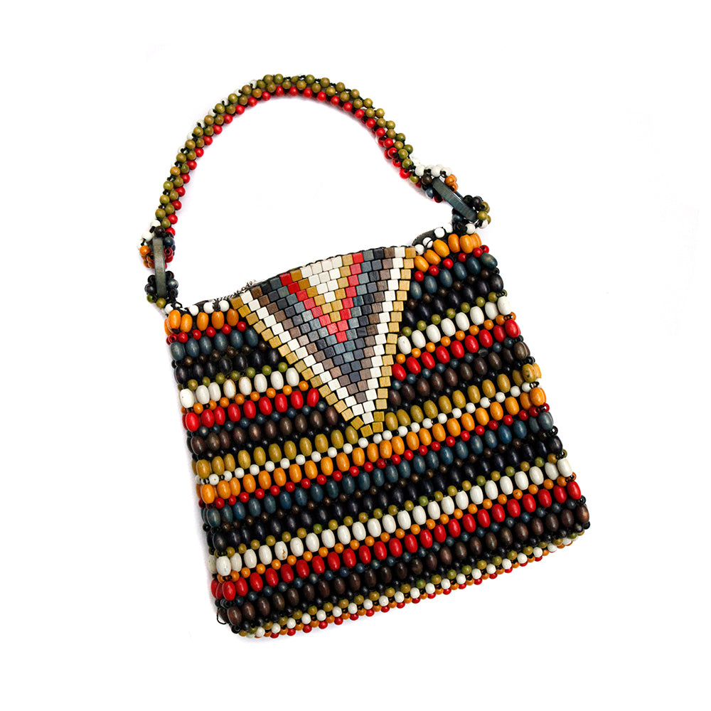 Czech Multi-Coloured Beaded Handbag
