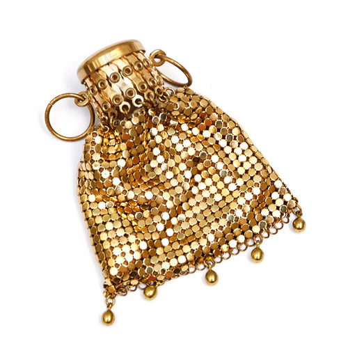 Gold Mesh Coin Purse
