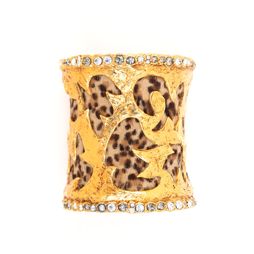 Christian Lacroix Gold and Leopard Cuff